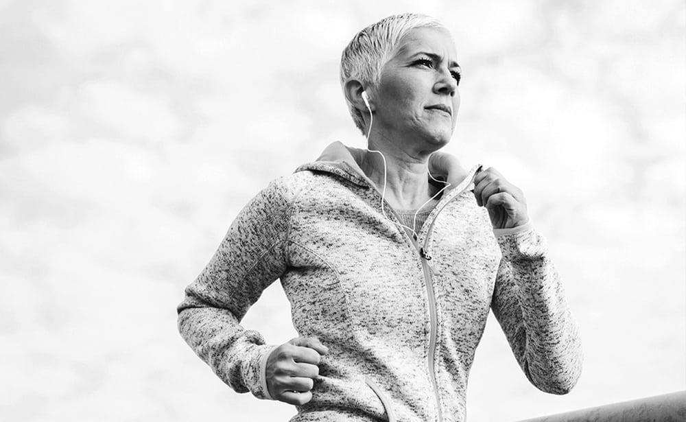 She ran a marathon with the help of a newly designed hip implant that we patented.